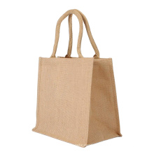 Fashion high quality personalized cotton jute shopping gunny bags