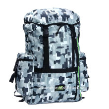 Camouflage Nylon Moutaineering Backpack with Nylon Webbings and Straps