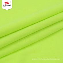 Tricot de tissu de composition de coton de polyester de couleur unie