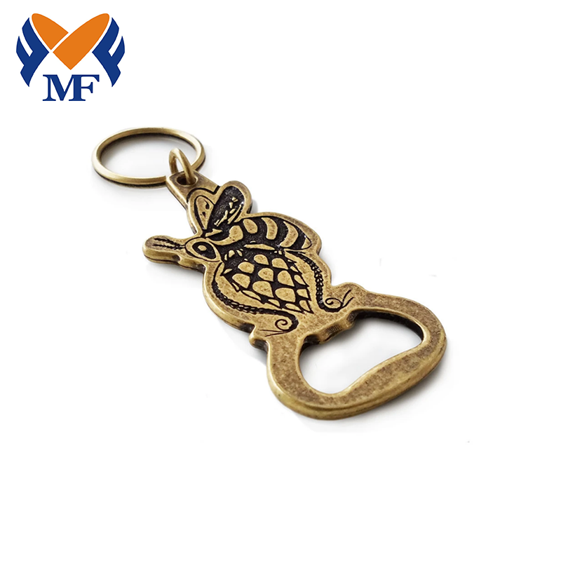 Personalized Beer Bottle Opener Keychain