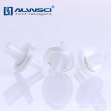 Vente en gros Filtres à seringue stériles hydrofuges transparents pvdf filtre membrane à filtre micron 0.2um