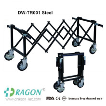 DW-TR Stainless steel transport bier adult use mortuary equipment
