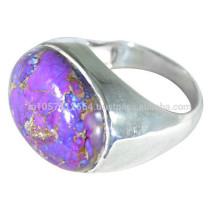 Bague en argent sterling 925 en argent sterling et violet pour pierres précieuses pour toutes les occasions