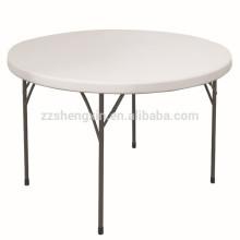 Table ronde en plastique pliante durable pliante