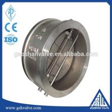 Clapet anti-retour à double disque en acier inoxydable