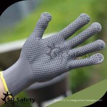 SRSAFETY 13G Струнные трикотажные нейлоновые перчатки из пвх, перчатки с перфорированными перчатками Перчатки для рук перчаток