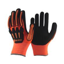 NMSAFETY orange winter gloves anti-impact