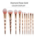 Herramientas de pincel de maquillaje Unicorn Dimand Rose Gold