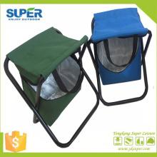 Taburete plegable de metal con una bolsa más fresca (SP-105)