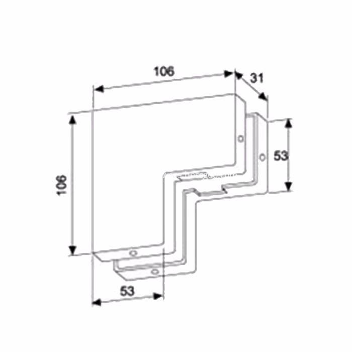 Stainless steel door clip for bathroom door