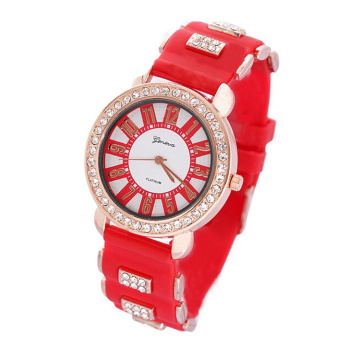 New fashion colorful silicone quartz watches for children (chen ai min)