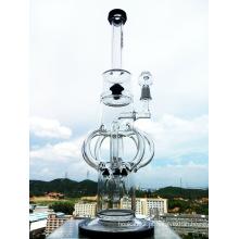 Top vendendo 18inch mais novo design Castelo Forma Precolator Vidro Fumando Pipe Água