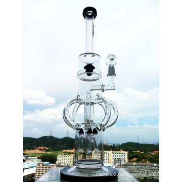 Top Selling Recycle Glass Water Pipe Enjoylife Stock Smoking Pipe Bend Recycle Pipe à fumer Oil Rigs Glass Bubbler Klein Glass Water Pipe