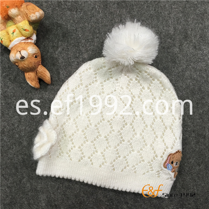 Scallop Edge Design Hat for Girls