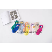 Fancy Ball and Tassels Girl Cotton Socks Fancy Looking Good Quality Free Samples Offered