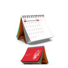 Qualität kundengebundener farbenreicher Tischkalender für Briefpapier, Bürozubehör