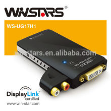 USB 2.0 HDMI output with Audio Adapter