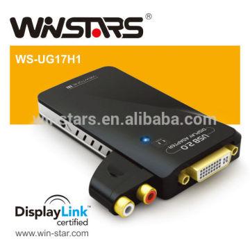 Saída HDMI USB 2.0 com adaptador de áudio