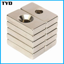 N42 Magnet Super Strong Block NdFeB Magnet with Countersunk Holes
