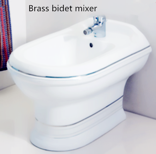 chrome deck mounted bidet mixer