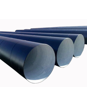 Epoxy Coal Tar Coated ISO 9001 Steel Pipe