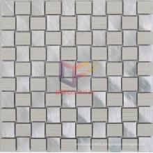 Beige Color Ceramic Mix Silver Aluminium Mosaic (CFA77)