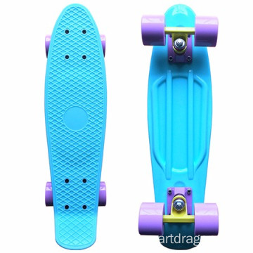 "Customizable Colors Pastel 22"" Four-wheel Mini Longboard Complete Skate Board"