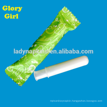 Wholesale soft cotton organic compact tampons for women
