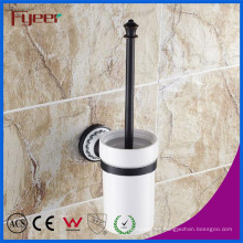 Fyeer Classic Black Accesorio para baño Latón inodoro Brush Holder