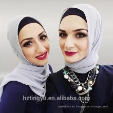 36 colores moda llanura gasa hijab musulmán mujeres burbuja gasa Hijab bufandas venta al por mayor
