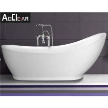 Aokeliya modern acrylic high back big freestanding bathtub for soaking high-quality customized bathtub for home or hotel
