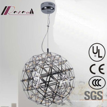 Modern Round Stainless Steel Pendant Lamp for Hotel Project