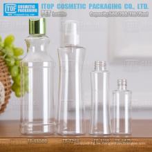 75ml 110ml 280ml 500ml botella buena calidad de diseño innovador y fábrica China del servicio del oem del animal doméstico botellas de plástico por mayor