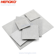HENGKO high quality factory wholesale  sintered porous stainless steel 316 316L mesh plate filter press