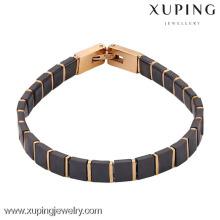 74279-xuping fashion gold plated jewelry wholesale italian leather bracelets