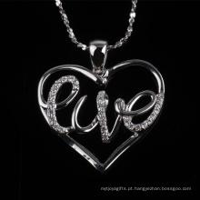 Preço competitivo moda coração forma amor pingente jóias