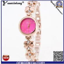 Yxl-409 Simple Design Luxus Frauen Dame Uhr Legierung Diamant Goldene Platte Armbanduhren Großhandel