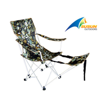 Oversized Printed Beach Chair With Foot Rest