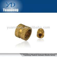 Inserto de latón / tuerca de inserción de latón de plástico / pieza de latón / piezas de CNC / tuercas de inserción de latón