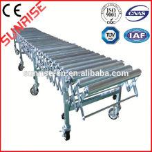 transportador de rolos de gravidade em aço inoxidável