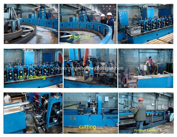working flow of carbon steel pipe making machine