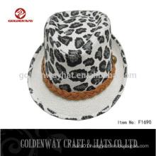 cheap men leopard print fedora hat