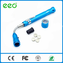 Manufacturer Button Cell Operated 3 led Pick-up telescopic flashlight