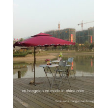 Outdoor Blow Mold Plastic Folding Round High Top Bar Table with Chair Attached