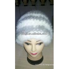 Sombrero de piel real de calidad superior
