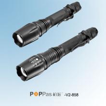 500lumens Lanterna elétrica recarregável de alumínio do diodo emissor de luz do zumbido do CREE Xm-L T6 (POPPAS-V2-858)