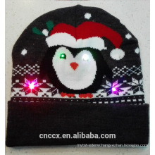 16ZQ604 knit LED christmas beanie