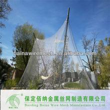 2015 alibaba china stahl tier zaun / stahl draht seil mesh net für zoo aviary