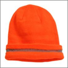Bonnet de sécurité avec rayures réfléchissantes Beanie_Orange