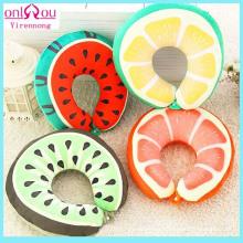 Almohadas en forma de U de frutas creativas de relleno de algodón PP